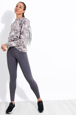Monrow Desert Camo College Pullover - Acorn image 2 - The Sports Edit