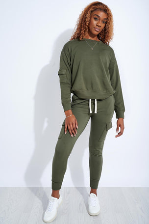 Monrow Patch Pocket Sweatshirt - Green image 2 - The Sports Edit