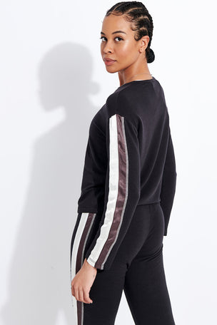 Monrow Supersoft Slouchy Sweatshirt - Faded Black image 3 - The Sports Edit