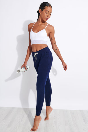 Monrow Supersoft Sporty Sweats - Navy Blue image 2 - The Sports Edit