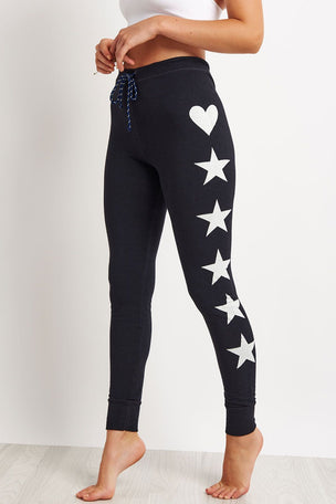 Sundry Stars + Hearts Skinny Sweatpant image 1 - The Sports Edit