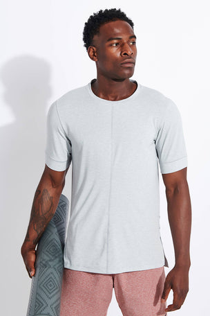 Nike Dri-FIT Short-Sleeve Top - Light Smoke Grey image 1 - The Sports Edit