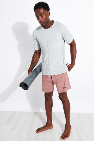 Nike Dri-FIT Short-Sleeve Top - Light Smoke Grey image 4 - The Sports Edit