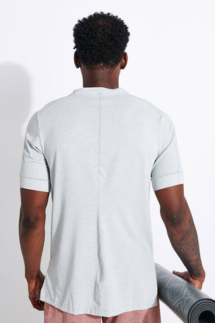 Nike Dri-FIT Short-Sleeve Top - Light Smoke Grey image 3 - The Sports Edit