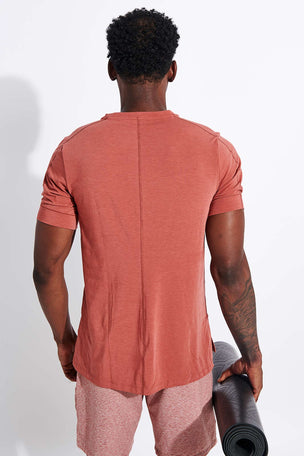 Nike Dri-FIT Short-Sleeve Top - Claystone Red/Black image 3 - The Sports Edit