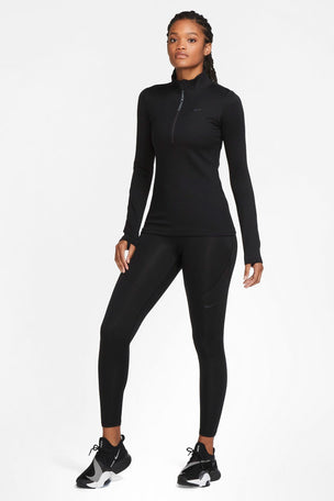Nike Pro Therma Tights - Black/Grey image 5 - The Sports Edit