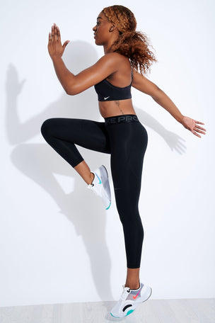 Nike Pro Therma Tights - Black/Grey image 2 - The Sports Edit