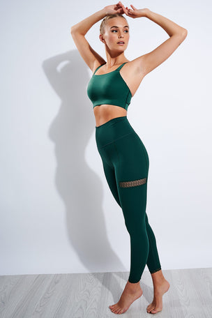 Nike Yoga 7/8 Leggings - Pro Green/Vintage Green image 2 - The Sports Edit