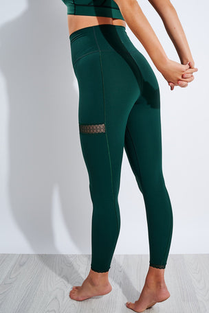 Nike Yoga 7/8 Leggings - Pro Green/Vintage Green image 3 - The Sports Edit