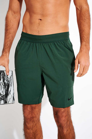 Nike Flex Yoga Shorts - Galactic Jade/Black image 1 - The Sports Edit