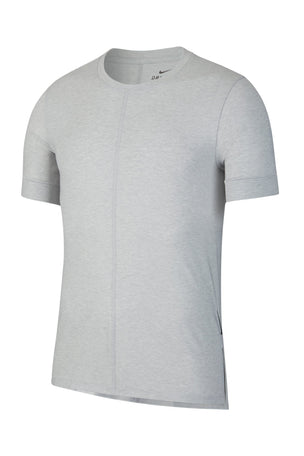 Nike Dri-FIT Short-Sleeve Top - Light Smoke Grey image 6 - The Sports Edit