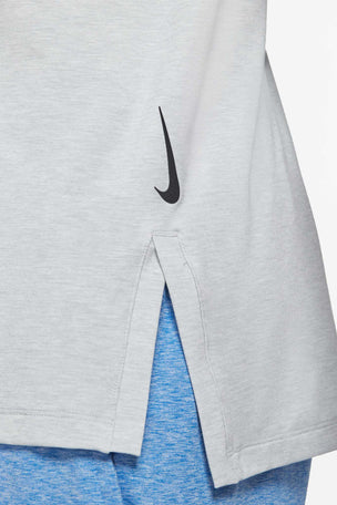 Nike Dri-FIT Short-Sleeve Top - Light Smoke Grey image 5 - The Sports Edit
