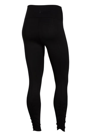 Nike Yoga Ruched 7/8 Leggings - Black/Grey image 7 - The Sports Edit