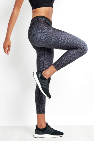 Nimble Lauren 7/8 Tight Black Leopard image 5 - The Sports Edit
