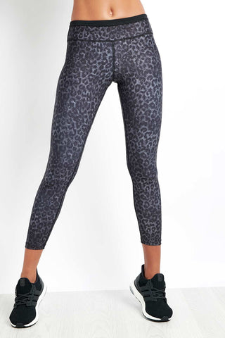 Nimble Lauren 7/8 Tight Black Leopard image 1 - The Sports Edit