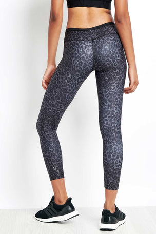 Nimble Lauren 7/8 Tight Black Leopard image 2 - The Sports Edit