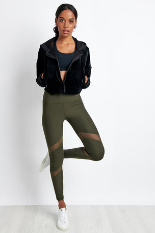 Nimble Moto Long Tight Khaki image 4 - The Sports Edit