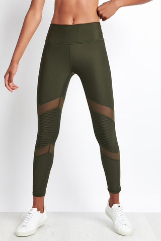 Nimble Moto Long Tight Khaki image 1 - The Sports Edit