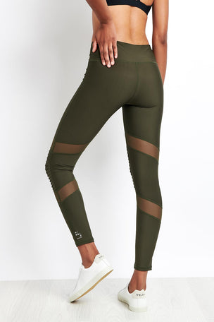 Nimble Moto Long Tight Khaki image 2 - The Sports Edit