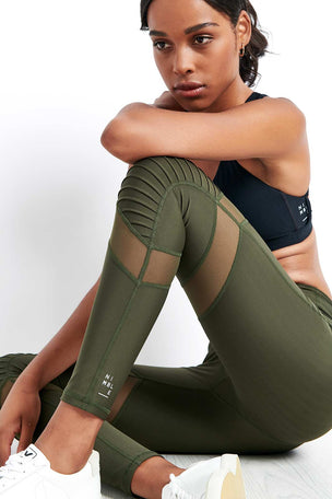 Nimble Moto Long Tight Khaki image 3 - The Sports Edit