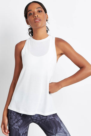 Nimble Tie Up Gather Tank White image 5 - The Sports Edit