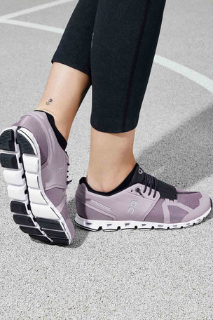 ON Running Cloud - Lilac/Black | Women's image 7 - The Sports Edit