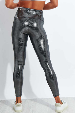 Onzie Foil Midi Legging - Mercury image 3 - The Sports Edit
