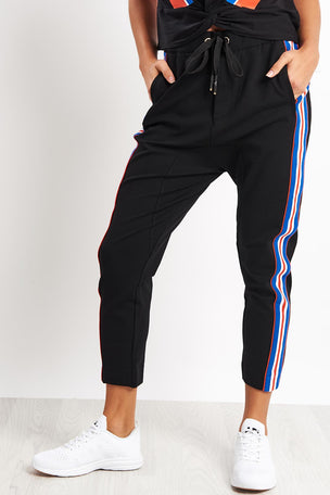 PE Nation Court Run Pant - Black image 1 - The Sports Edit