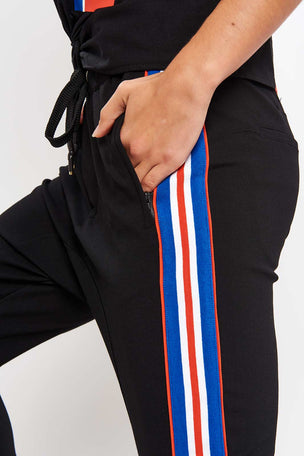 PE Nation Court Run Pant - Black image 3 - The Sports Edit