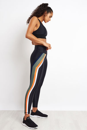 PE Nation Flight Series Legging - Black image 4 - The Sports Edit