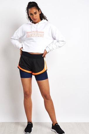 PE Nation Hot Streak Hoodie - White image 4 - The Sports Edit