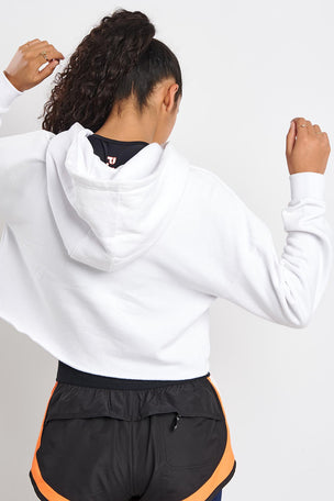PE Nation Hot Streak Hoodie - White image 2 - The Sports Edit