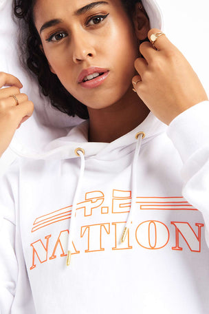 PE Nation Hot Streak Hoodie - White image 3 - The Sports Edit