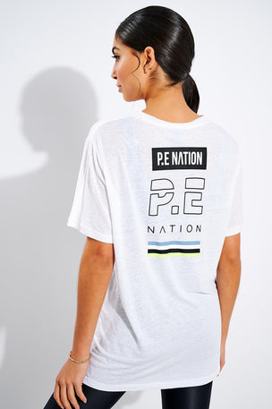 PE Nation In Goal Tee - White image 1 - The Sports Edit