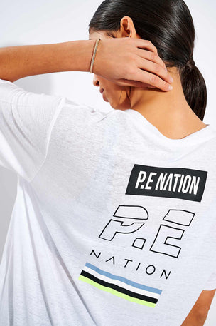 PE Nation In Goal Tee - White image 4 - The Sports Edit