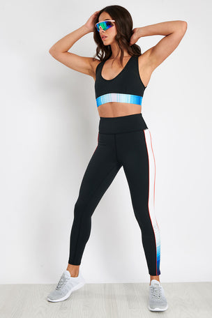 PE Nation Lineal Success Sports Bra - Black image 3 - The Sports Edit