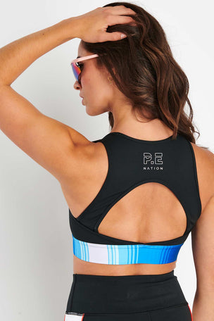 PE Nation Lineal Success Sports Bra - Black image 4 - The Sports Edit