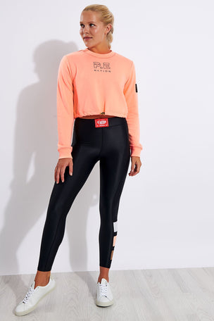 PE Nation Replay Sweat - Pop Peach image 2 - The Sports Edit