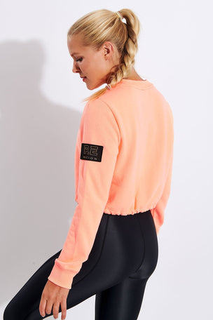PE Nation Replay Sweat - Pop Peach image 3 - The Sports Edit