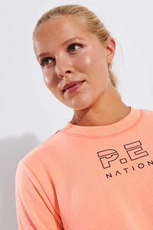 PE Nation Replay Sweat - Pop Peach image 4 - The Sports Edit