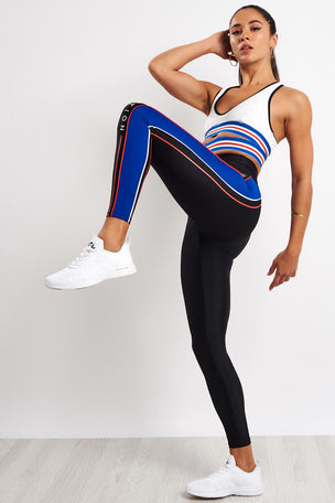 PE Nation Three Point Legging - Black image 4 - The Sports Edit