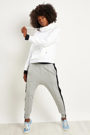 PE Nation The Defender Ace Hoodie - White image 4 - The Sports Edit