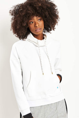 PE Nation The Defender Ace Hoodie - White image 1 - The Sports Edit