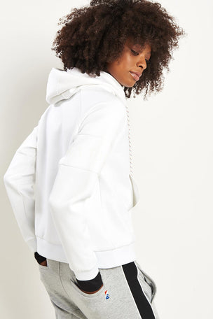 PE Nation The Defender Ace Hoodie - White image 2 - The Sports Edit