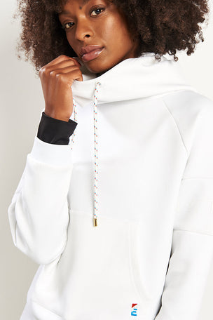 PE Nation The Defender Ace Hoodie - White image 3 - The Sports Edit