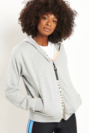 PE Nation Elite Two Hoodie - Grey Marl image 1 - The Sports Edit