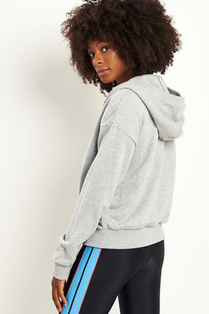PE Nation Elite Two Hoodie - Grey Marl image 2 - The Sports Edit