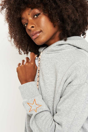 PE Nation Elite Two Hoodie - Grey Marl image 3 - The Sports Edit