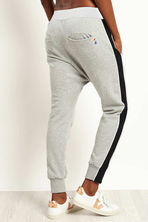 PE Nation The Master Run Pant - Grey Marl image 2 - The Sports Edit