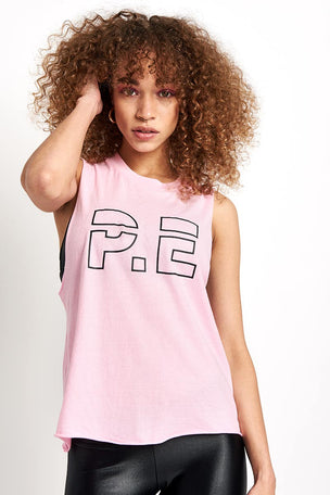 PE Nation Ramp Up Tank Pink image 1 - The Sports Edit